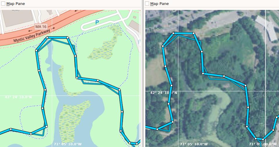 Выпуск ZombieTrackerGPS 0.96, приложения для отслеживания маршрутов на карте
