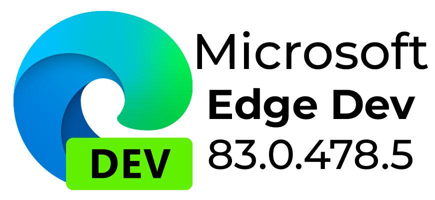 Microsoft Edge Dev 83.0.478.5