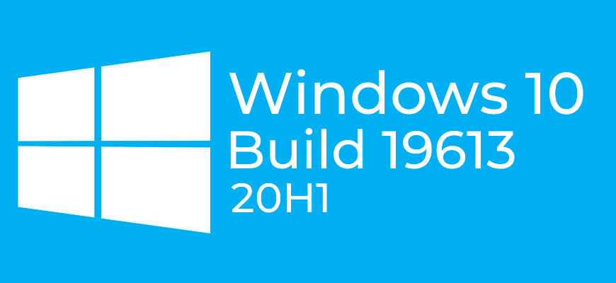 Windows 10 Insider Preview Build 19613