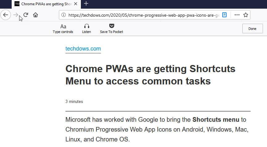 В ночные сборки Firefox внесены спорные изменения в интерфейс режима читателя