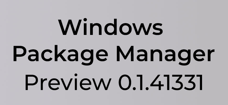 Windows Package Manager