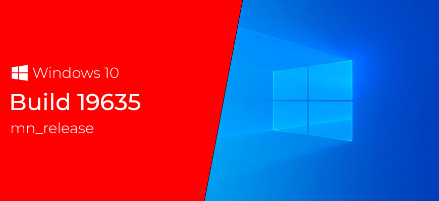 Windows 10 Insider Preview Build 19635