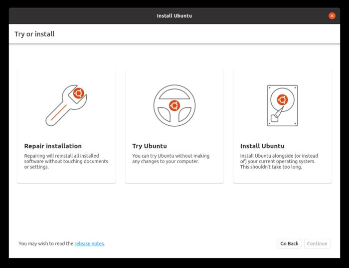 Бета-выпуск Ubuntu 21.10